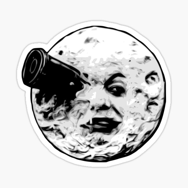 Man in the moon Sticker
