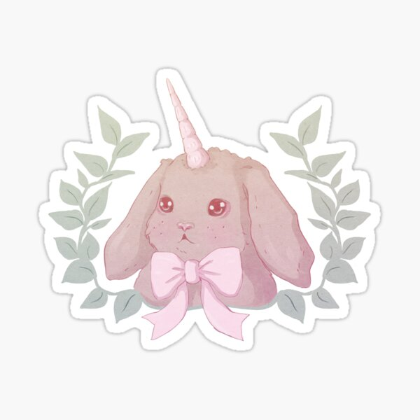 Cute Pastel Unicorn Bunny  Sticker