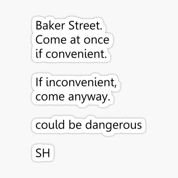 Sherlock Holmes text message Sticker