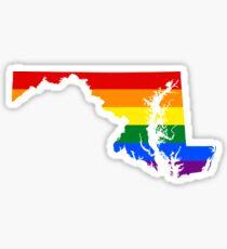 LGBT Flag of Maryland  Sticker