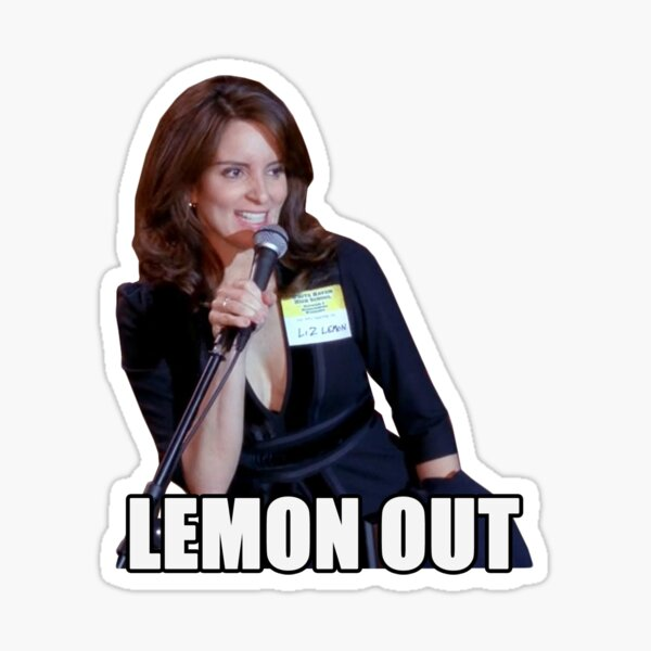 lemon out Sticker