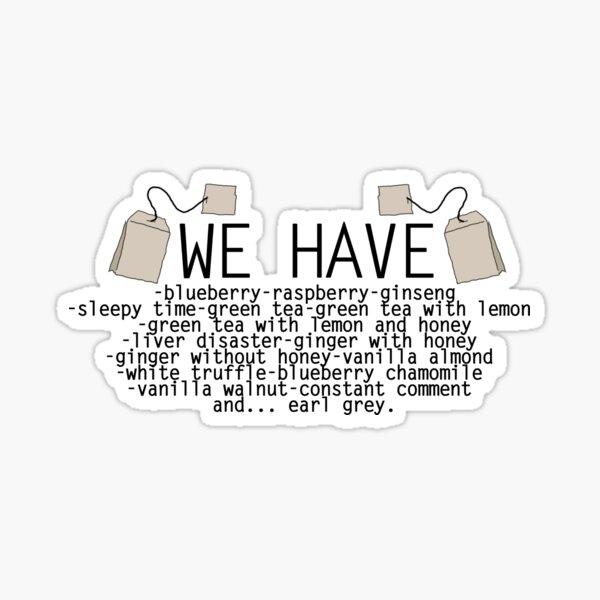 Different Kinds of Tea Sticker