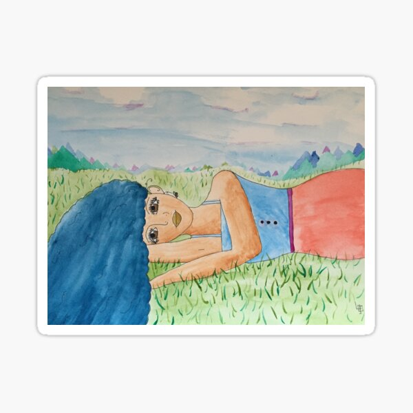 A Nap in the Meadow Sticker