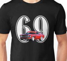 1969 Boss 302 - Mustang Fastback Unisex T-Shirt