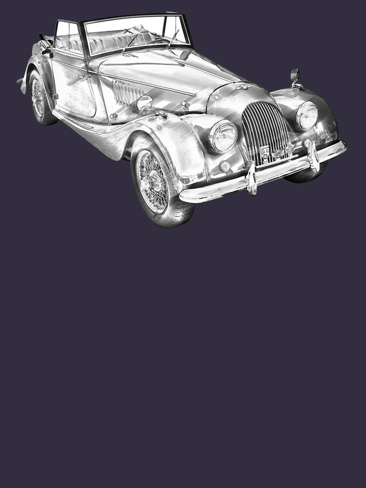 1964 Morgan Plus 4 Convertible Sports Car Illustration de KWJphotoart