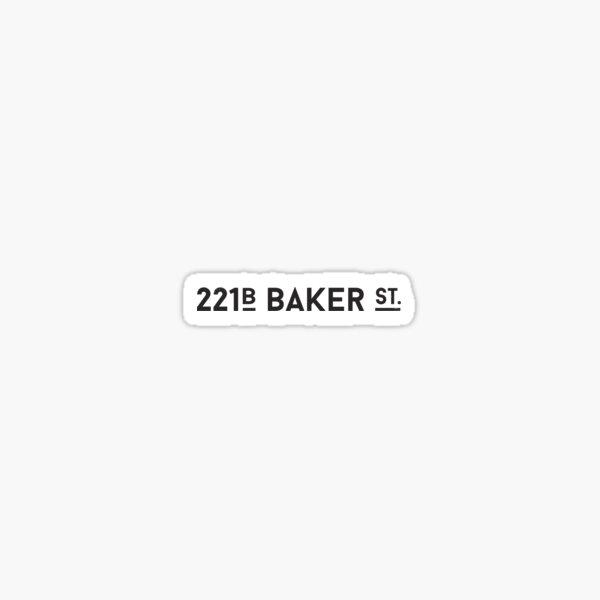 Sherlock • 221B Baker St. Sticker