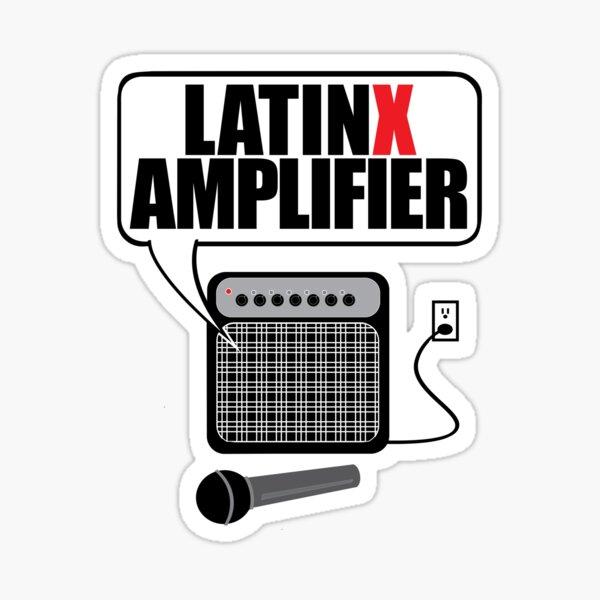 Latinx Amplifier with Mic Sticker