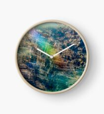 Rainbow Grass Three Clock