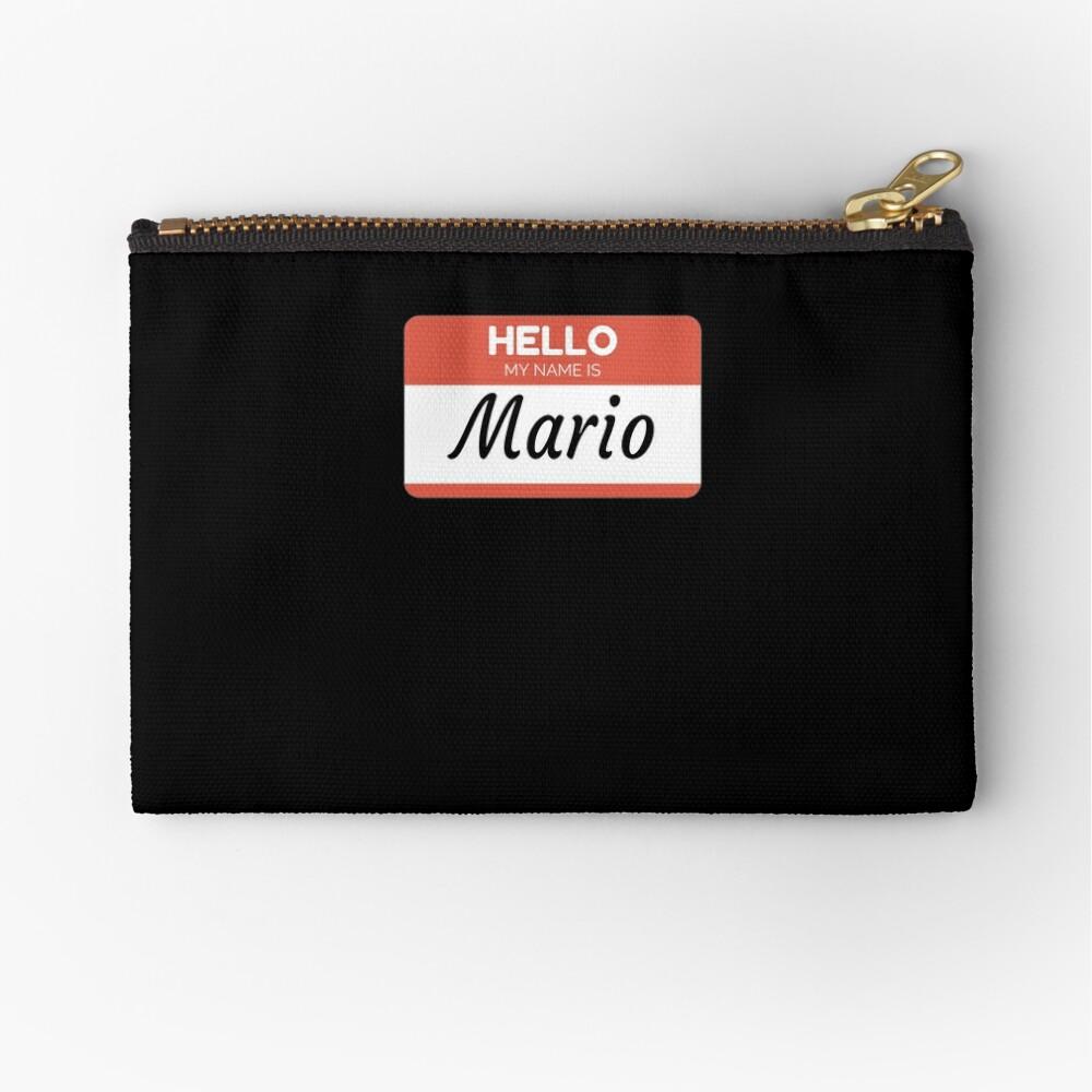 Mario Name Label  Hello My Name Is Mario Gift For Mario or for a female you know called Mario Bolsos de mano