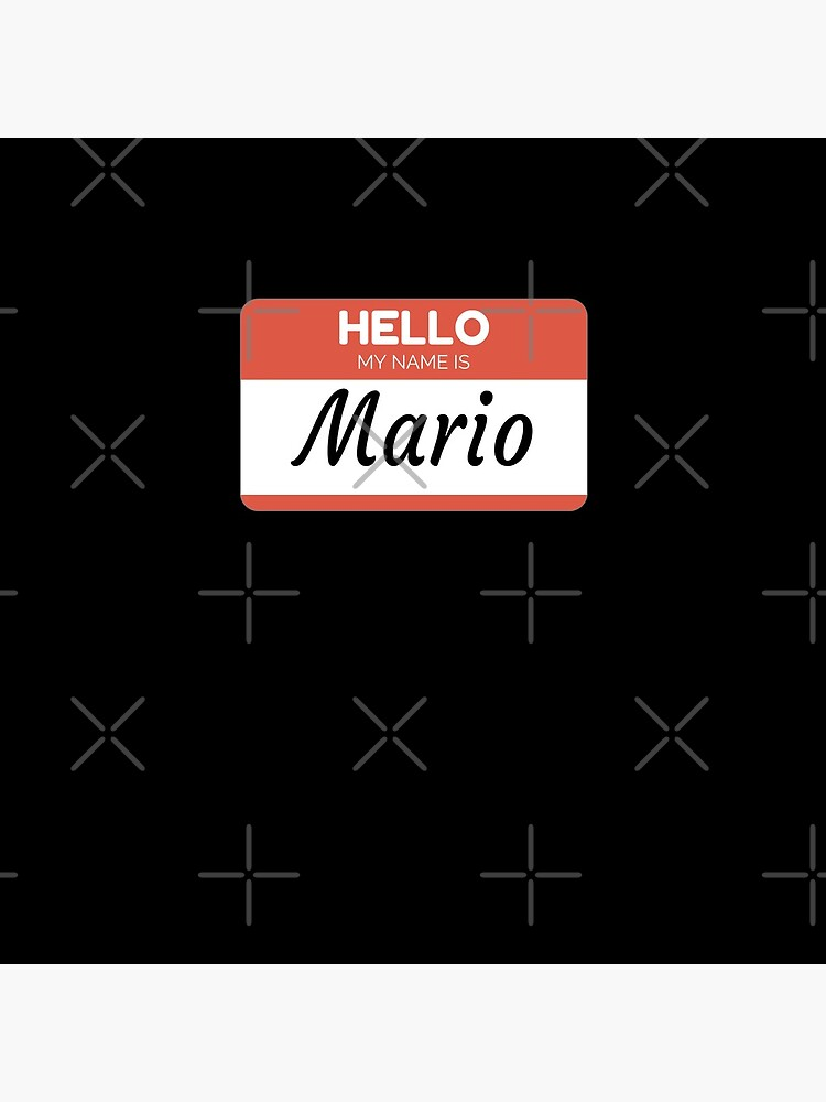 Mario Name Label  Hello My Name Is Mario Gift For Mario or for a female you know called Mario de Bontini