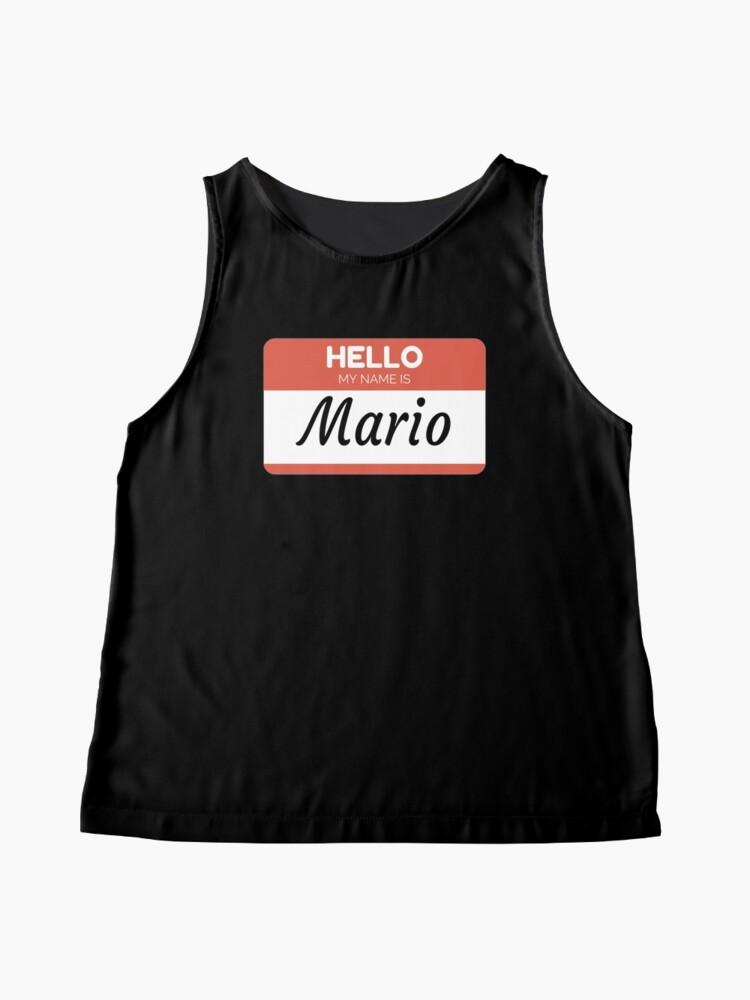 Vista alternativa de Blusa sin mangas Mario Name Label  Hello My Name Is Mario Gift For Mario or for a female you know called Mario
