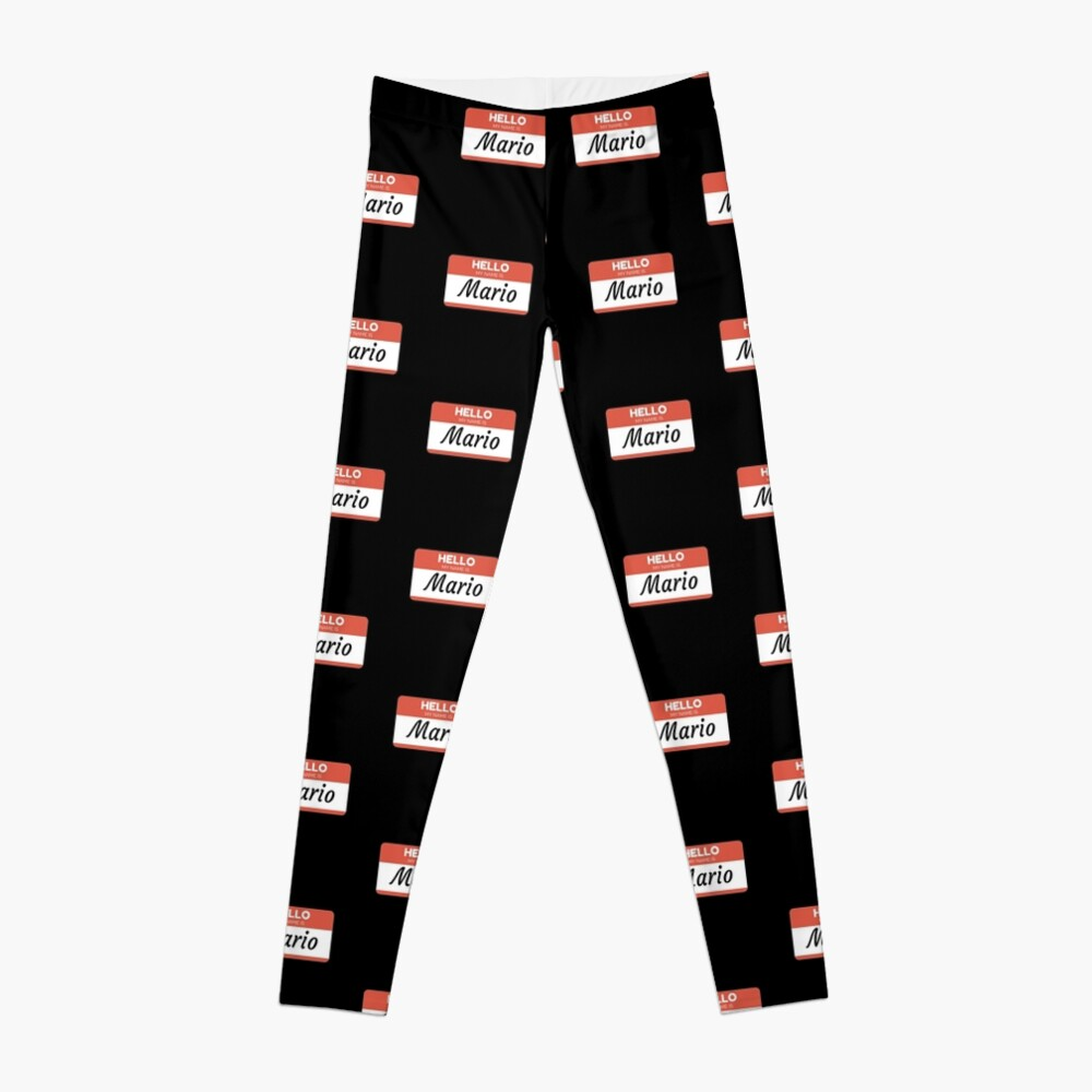 Mario Name Label  Hello My Name Is Mario Gift For Mario or for a female you know called Mario Leggings