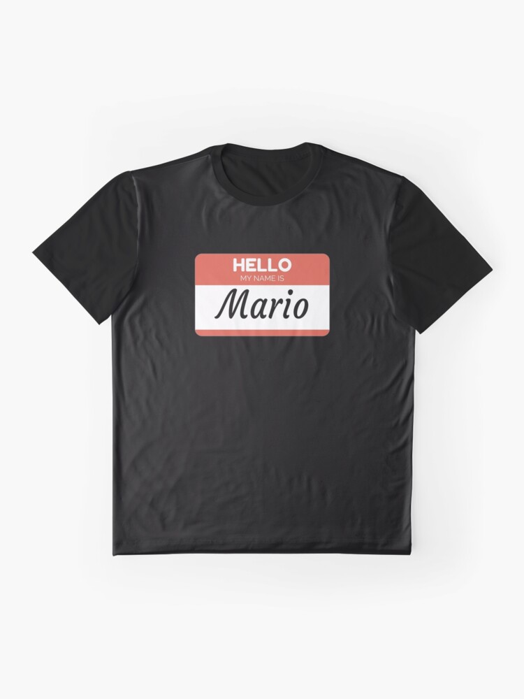 Vista alternativa de Camiseta gráfica Mario Name Label  Hello My Name Is Mario Gift For Mario or for a female you know called Mario