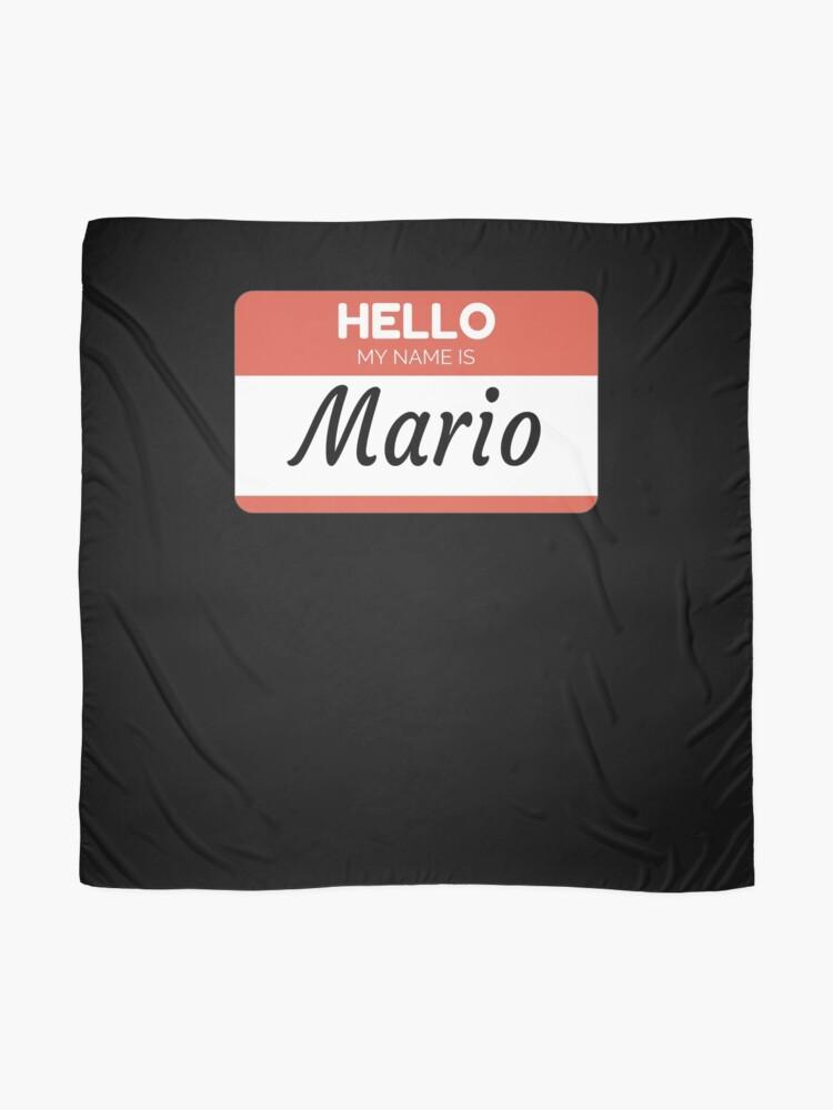 Vista alternativa de Pañuelo Mario Name Label  Hello My Name Is Mario Gift For Mario or for a female you know called Mario