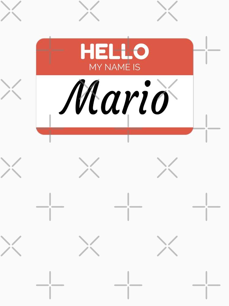 Mario Name Label  Hello My Name Is Mario Gift For Mario or for a female you know called Mario de Bontini