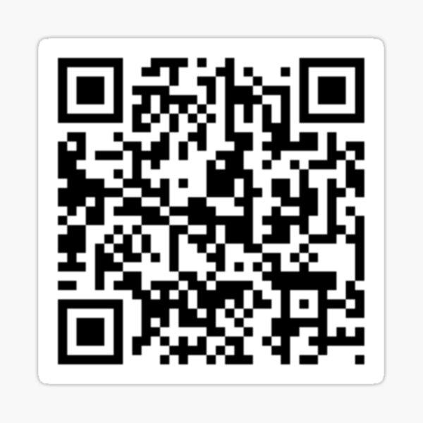 Código QR Rickroll Pegatina