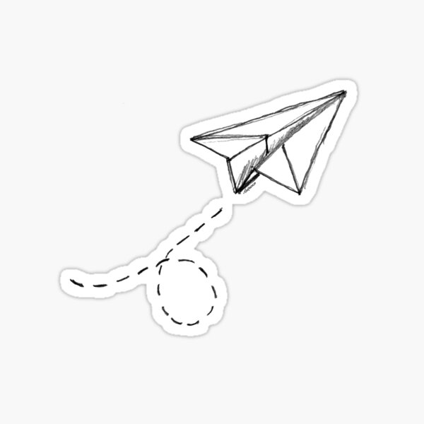 Paper Airplane 9 Sticker