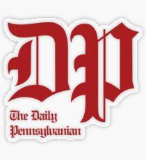 The DP Square Red Logo Transparent Sticker