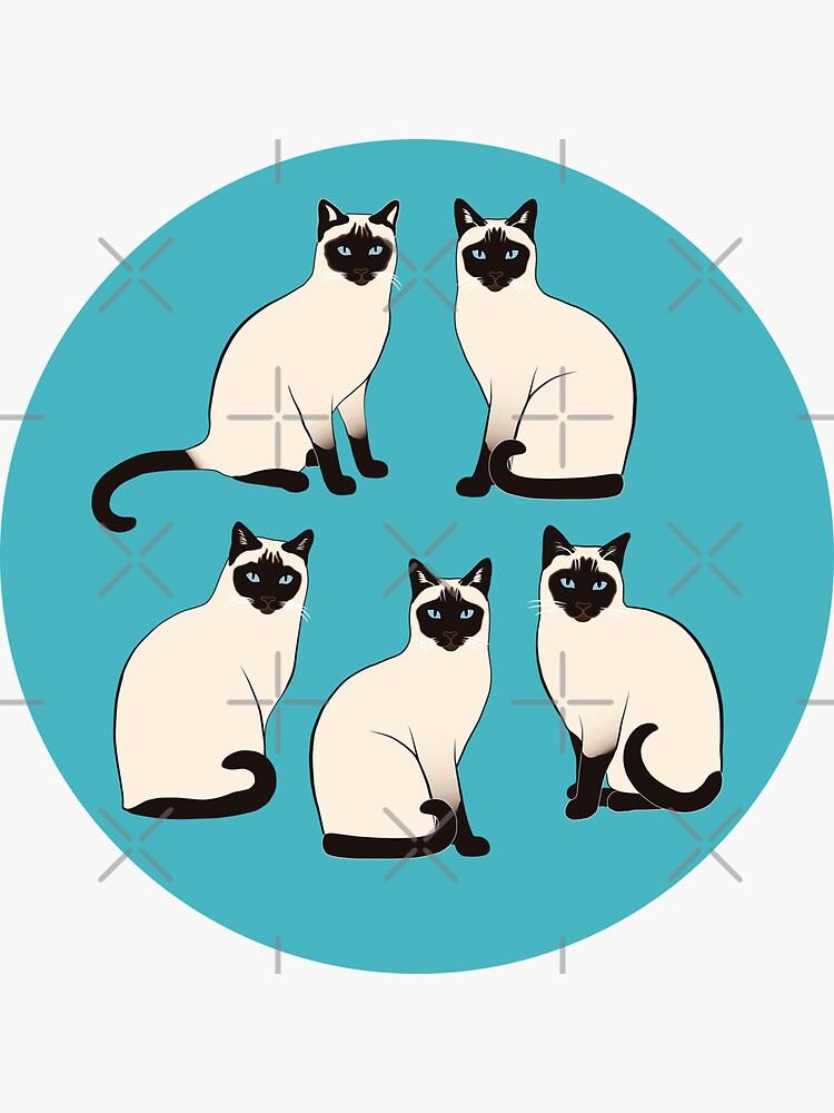 Siamese Cats - sparse pattern by nadyanadya