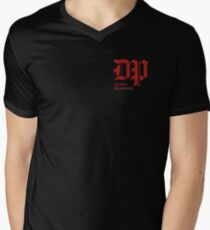 The DP Square Red Logo V-Neck T-Shirt