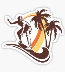 Surfing Sticker