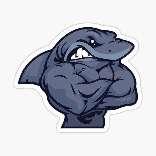 Muscle Shark Sticker