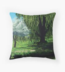 Waterside Willow Throw Pillow