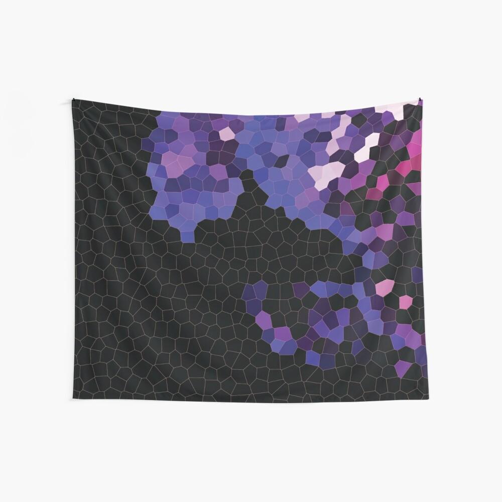 Paisaje geométrico púrpura Tela decorativa