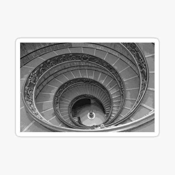 The Bramante Staircase In The Vatican Museum In Rome Sticker
