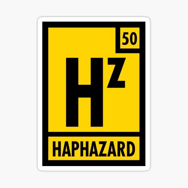 Haphazard Logo 1 Sticker