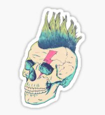 Skull Punk Sticker