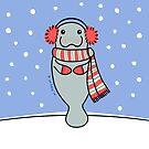 Snow Day Manatee by Zoe Lathey