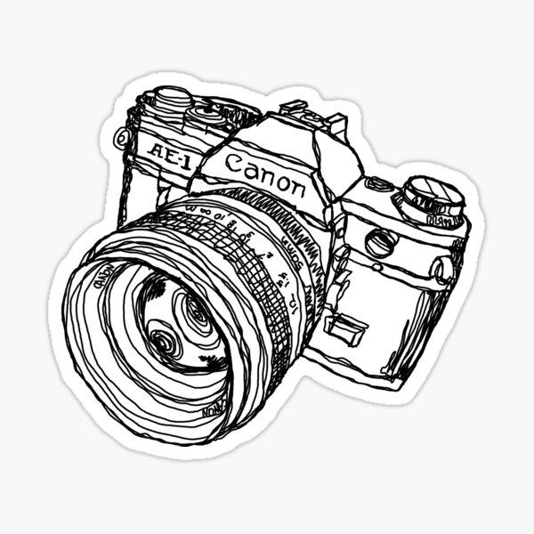 Classic SLR Camera Sticker
