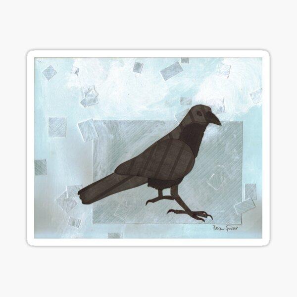 Raven in the Snow Sticker