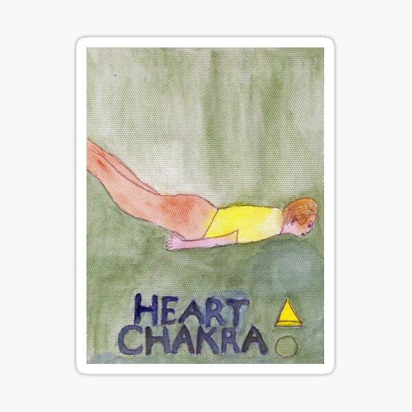 The Locust Pose The Heart Chakra Sticker