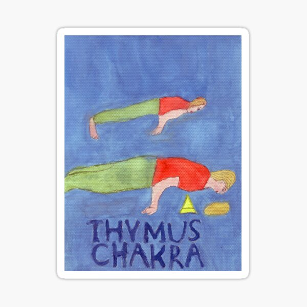 The Peacock The Thymus Chakra Sticker