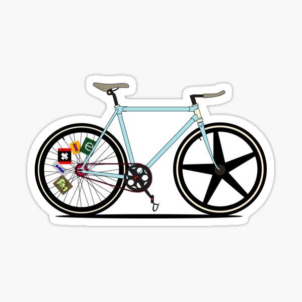 Vélo Fixie Sticker