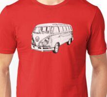 Classic VW 21 window Mini Bus Illustration Unisex T-Shirt