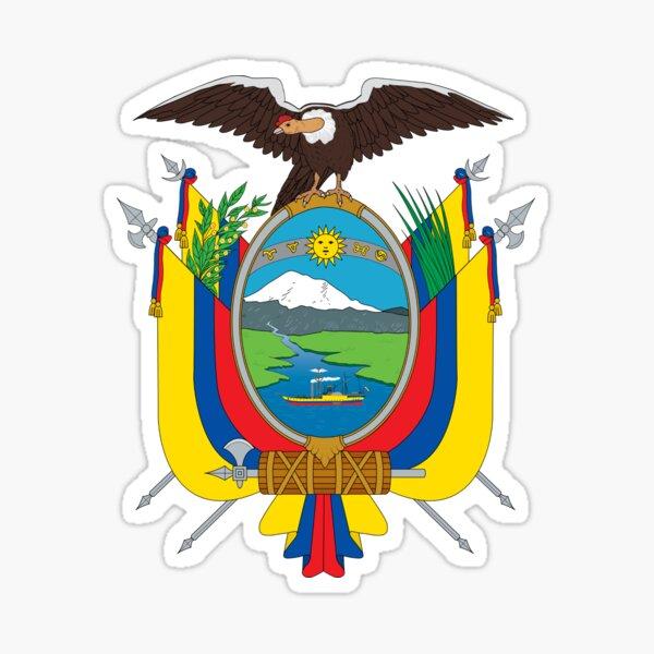Escudo de Armas de Ecuador Pegatina