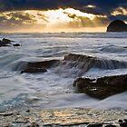 Trebarwith Sundown by David Wilkins