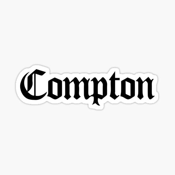 Compton Black Sticker