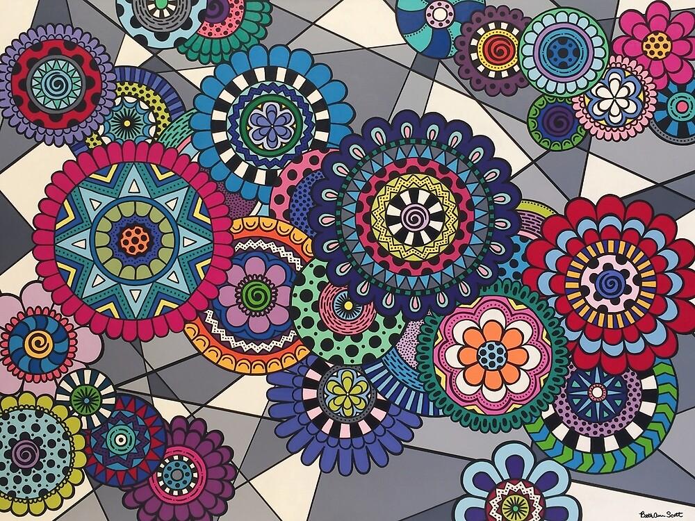 Mandalas In Bloom by Beth Ann  Scott