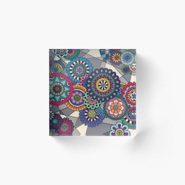 Mandalas In Bloom Acrylic Block