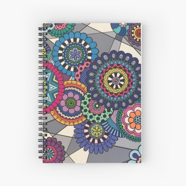 Mandalas In Bloom Spiral Notebook