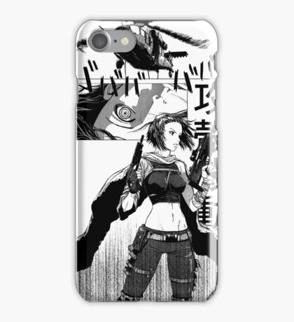 Ghost in the shell manga iPhone Case/Skin