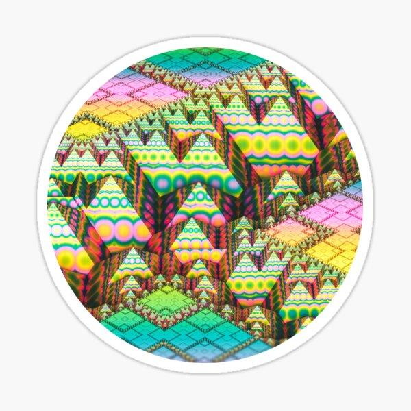 infrastructure. 3d Abstract Art Sticker