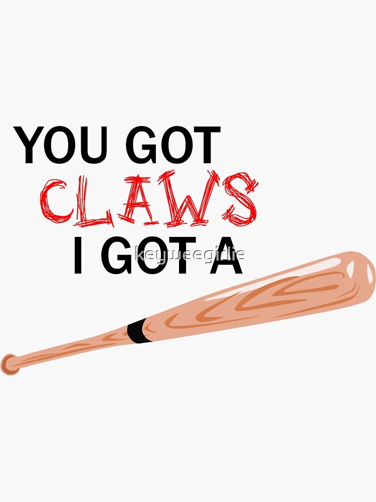 Claws & Bat (solid background) von keyweegirlie