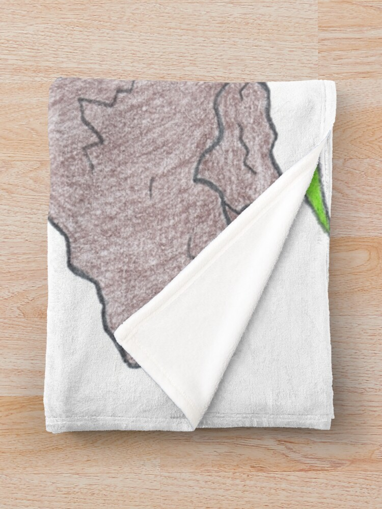 Alternate view of Merch #19 -- Palm Atop The Rugged Embankment Throw Blanket
