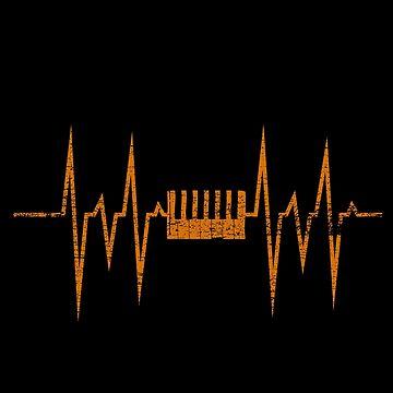 Piano heartbeat by GeschenkIdee