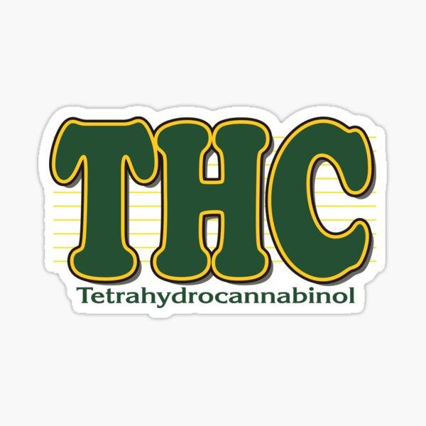 THC Cannabis Pegatina